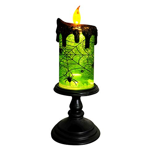 DDXJ Christmas Decoration Tornado Lamp, Battery Operated Flameless Candle, Lighted Snow Globe for -