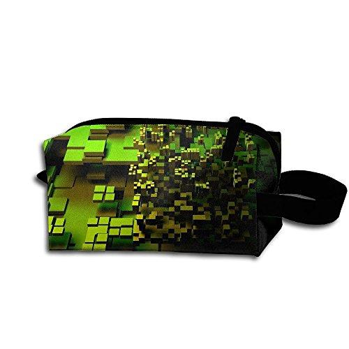 Makeup Cosmetic Bag Cool Desktop Background Medicine Bag Zip Travel Portable Storage Pouch For Mens -