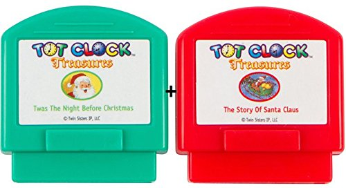 Tot Clock Treasures: Christmas Set (Twas The Night Before Christmas and the Story of Santa Claus) (compatible with New & Improved Tot Clock only) by My Tot Clock