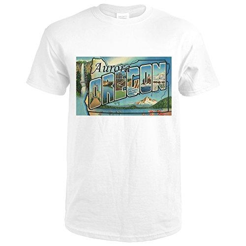 Aurora Oregon (Aurora, Oregon - Large Letter Scenes (Premium White T-Shirt X-Large))