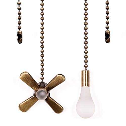 Ceiling Fan Pull Chain, 13.6 Inches Fan Pulls Set