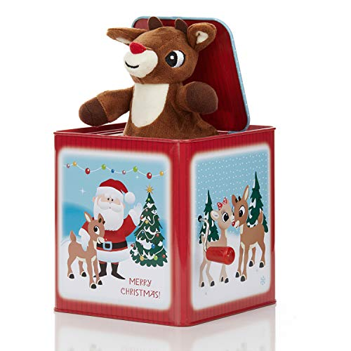 Rudolph the Red-Nosed Reindeer Jack-In-The-Box (Rudolph The Red Nosed Reindeer Music Box)