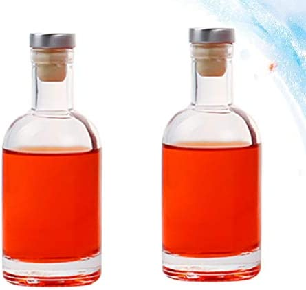 Cabilock 2 Pzas Botella de Vidrio de Vodka Vacía Whisky Vodka Licor Vino Cerveza Botellas de Vidrio Jugo Botellas Vacías Cola Botella Rellenable