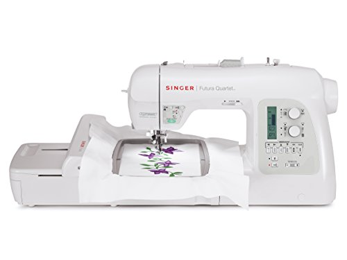 SINGER 4-in-1 Futura Quartet Portable Sewing, Embroidery, Quilting and Serging Machine with Bonus Accessories