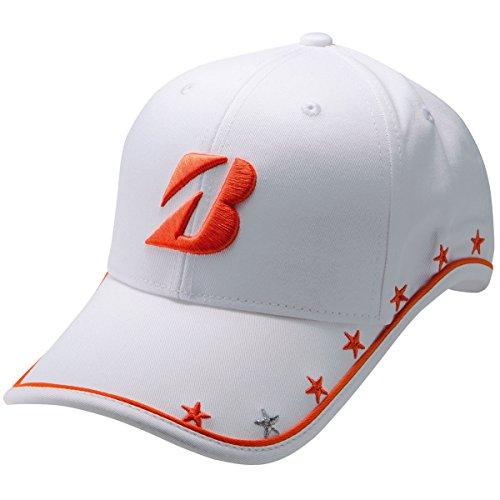 ブリヂストン TOUR B 帽子 プロモデルキャップ CPG751 レディス ホワイト/オレンジ フリー