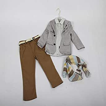 Three-piece boy's trousers with elegant design