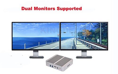 KINGDEL 4K HTPC, Intel i5-4200U Haswell CPU NUC, Windows 10 Nettop, 8GB RAM, 256GB SSD, intel HD4400 Graphics, 4USB 3.0, HDMI, WiFi, Fanless by KINGDEL (Image #5)