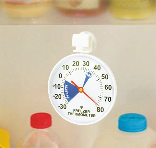 Admetior Fridge/Freezer Thermometer with Suction Cups