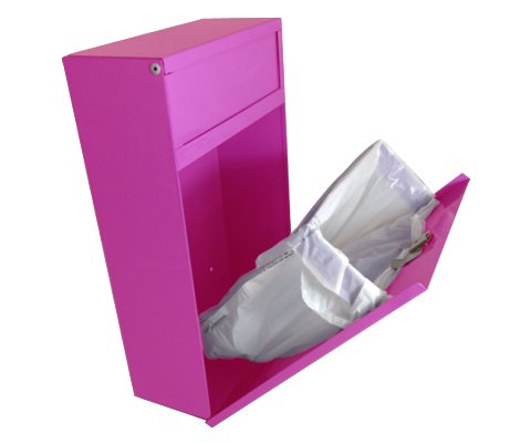 Sanitary napkin and tampon disposal unit, pink, case of 4