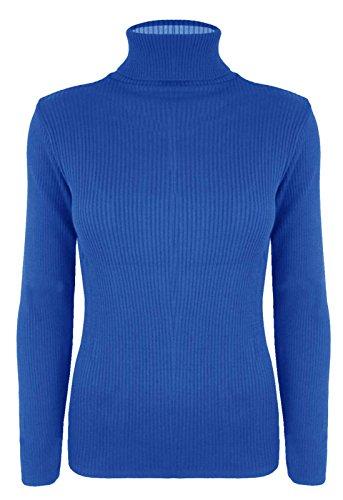 REAL LIFE FASHION LTD - Camiseta de manga larga - para mujer azul real
