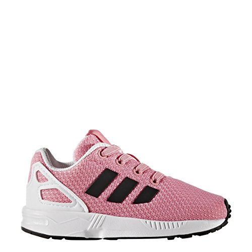 adidas Originals Girls' ZX Flux EL I Running Shoe, Easy Pink Black/White, 7 M US Toddler