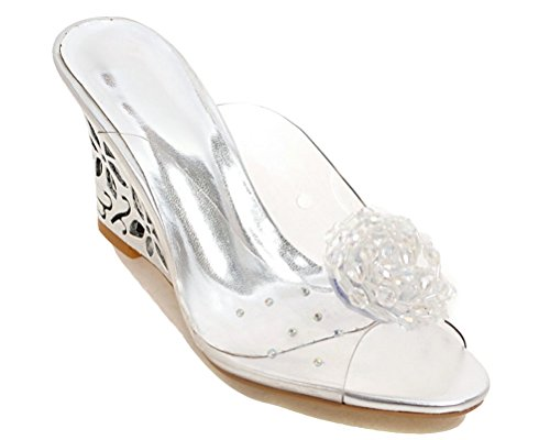 Mules HiTime Mules Femme Silver HiTime n6wCgOqxBO