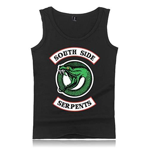 Blouses Side Noir Rond Serpents Tee Sans shirt Débarateur Pour Et Top Manches Homme Femme Riverdale T Imprimé Classiques South D'été Col 6fvRwxpnY