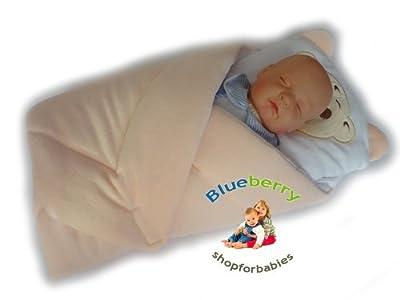 Velour Newborn Baby Swaddle Wrap Blanket Duvet Sleeping Bag by Blueberry Shop