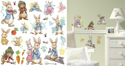 (10x18) Peter Rabbit Peel and Stick Wall Decals