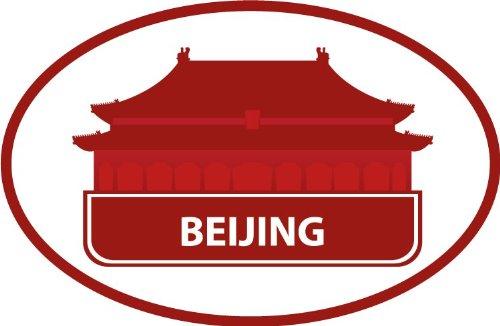 Beijing China Historical National Travel Bumper Sticker Decal 5  X 4