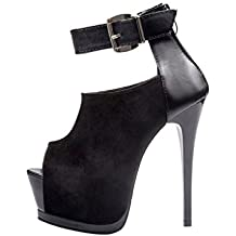 Sothingoodly Pretty Women Bandage Buckle Splicing High Heels