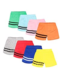 Chhota Bheem Baby Cotton Shorts for Baby Boy and Girl Pack of 10,Multicolor
