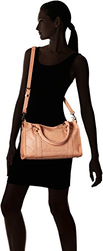 FRYE Melissa Zip Satchel Leather Handbag, dusty rose by FRYE (Image #6)