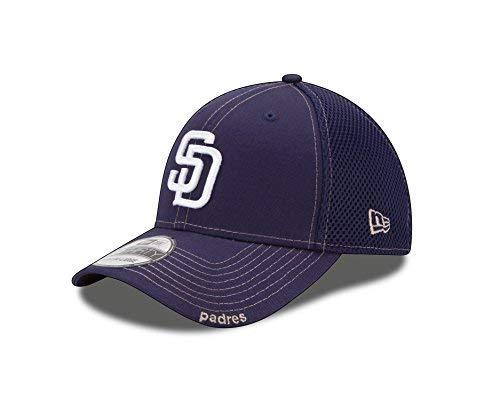 MLB San Diego Padres Neo Fitted Baseball Cap, Navy, Medium/Large
