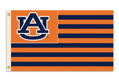 NCAA Auburn Tigers 3-by-5 Foot Flag A U with Stripes with Grommets