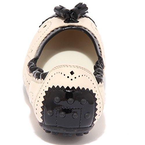 ballerina DEE BUCATURE women Nero 76904 Panna donna scarpa NAPPINE TOD'S shoe f1wdda
