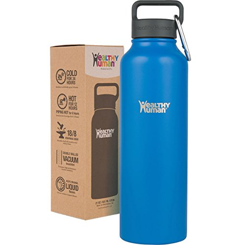 Healthy Human 40 oz Water Bottle - Cold 24 Hrs, Hot 12 Hrs.