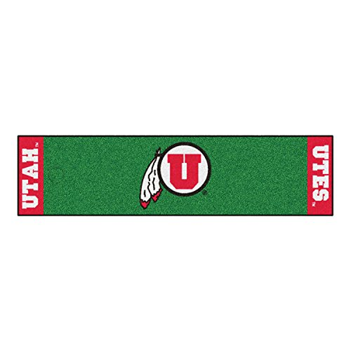 Fanmats Home Indoor Sports Team Logo Utah Putting Green Mat