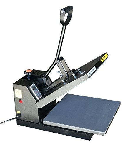 PowerPress Industrial-Quality Digital 15-by-15-Inch Sublimation T-Shirt Heat Press, Black