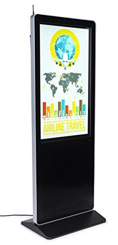 Displays2go Touch Screen Advertising Kiosks with Internal Media Player – Black (SBXSTCH43)