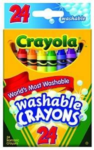 Crayola Crayons Washable 24 CT (Pack of 12)
