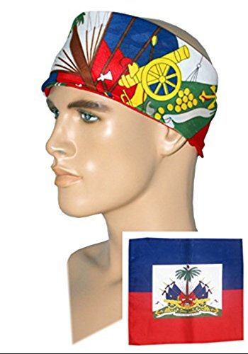 (Milford Haitian Bandana Flag)