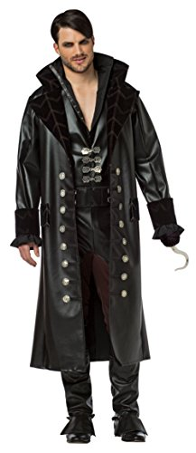 Ouat Captain Hook Costume (Rasta Imposta Men's Plus-Size Once Upon A Time Hook, Black, Plus)