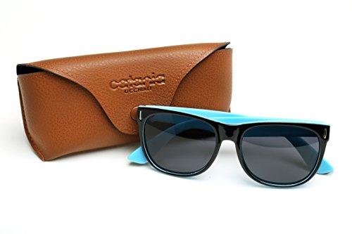 Incluye Unisex Azul Limpieza Polarizadas de de Catania de Occhiali Deluxe Sol Gafas Toallita UV400 Gafas Sol Funda y YaYH8vqZ
