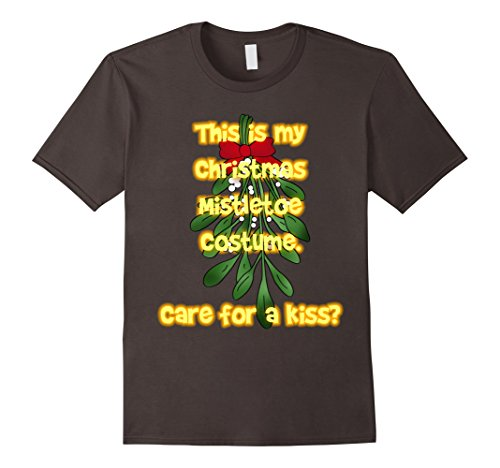 Costume Ideas For Christmas Vacation Party (Mens This is My Christmas Mistletoe Costume Care for a Kiss Shirt Medium Asphalt)