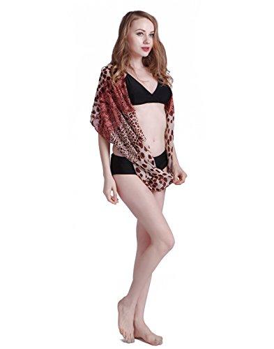 HDE Women's Sarong Scarf Bikini Cover Up Pareo Swimsuit Beach Wrap (Style #1)