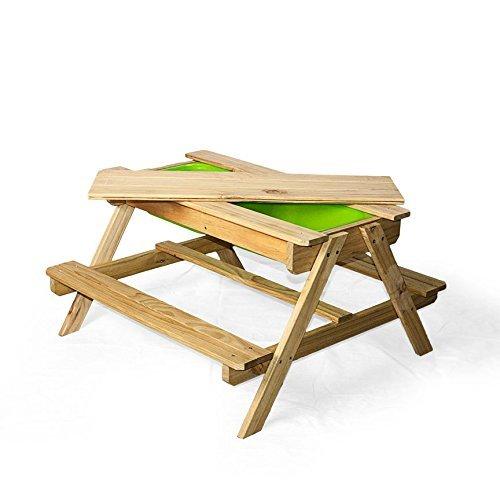 WONKAWOO Enless Fun Sand & Water Table Toy, Natural, 35.5'' x 35''x 20.5'' by WONKAWOO