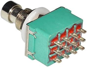 DIY Pedal Gear Parts® - 2 pulsadores 4PDT para pedal conmutador ...