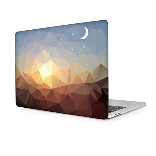Batianda Crystal Painting Hard Cover Case for Newest Apple MacBook Pro 13 inch with/without Touch Bar Model:A1706 & A1708 (NEWEST Release October 2016) (Sunset)