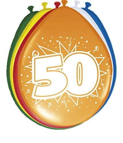 Globo con número 50 para 50 cumpleaños, aniversario, 50 años ...