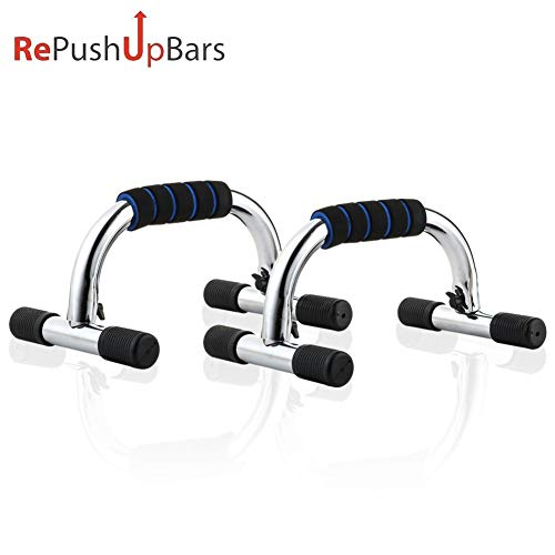 Push Up Bars, Durable Pushup Handle with Comfortable Non-Slip Foam Grip, Portable Push Up Stand Bar for Home Gym Fitness Muscle Training Upper Body Strength (Cole Wood Mirror)