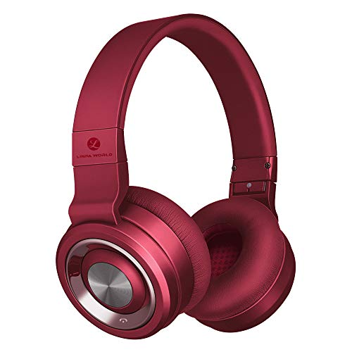 Bluetooth Headphones Wireless Over Ear,Stereo Hi-Fi Headset Linpa World M1 Foldable, 30 Hours Playtimes, Soft Earmuffs, w/Built-in Mic and Wired Mode for PC/Cell Phones/TV