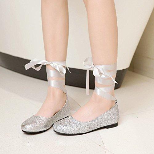 Silver Flat Zapatos Melady Daughter Glitter Ballets ncSqXwwWf
