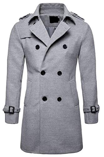 Jacket Blend Pea Lapel Breasted Notch 1 Mens Wool Gocgt Coat Double qwpzOI