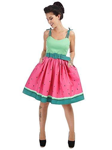 Jade Watermelon Swing Dress, Kleid Collectif, 50er