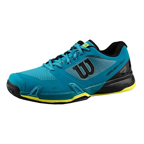 Wilson Rush Pro 2.5, Zapatillas de Tenis para Hombre, Azul (Enamel Blue/Black/Safety Yellow 000), 41 1/3 EU: Amazon.es: Zapatos y complementos