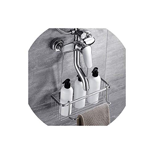 Shower Faucet Shower Basket, Bathroom Storage Shelves for Shampoo Candy, Conditioner and -