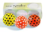 Assorted Orange & Yellow Polka Dot Golf Balls (Sleeve of 3)