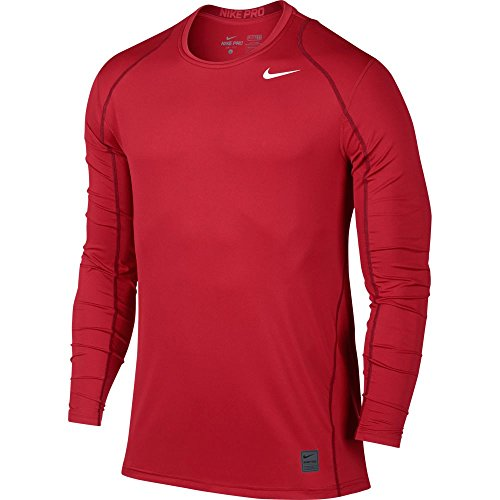 Team Training Shirts (Nike Mens Pro Cool Long Sleeve Training Shirt University Red/Team Red/White 703100-657 Size)