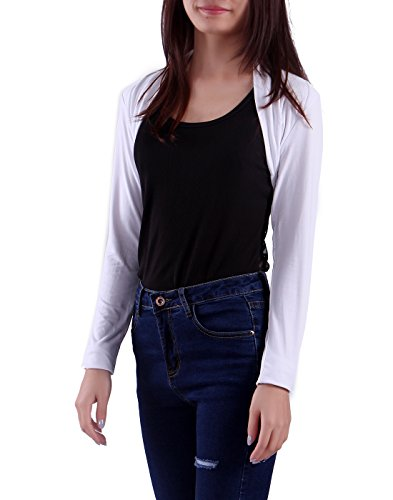HDE Open Front Shrugs for Women Long Sleeve Bolero Cropped Cardigan Sweater S-4X